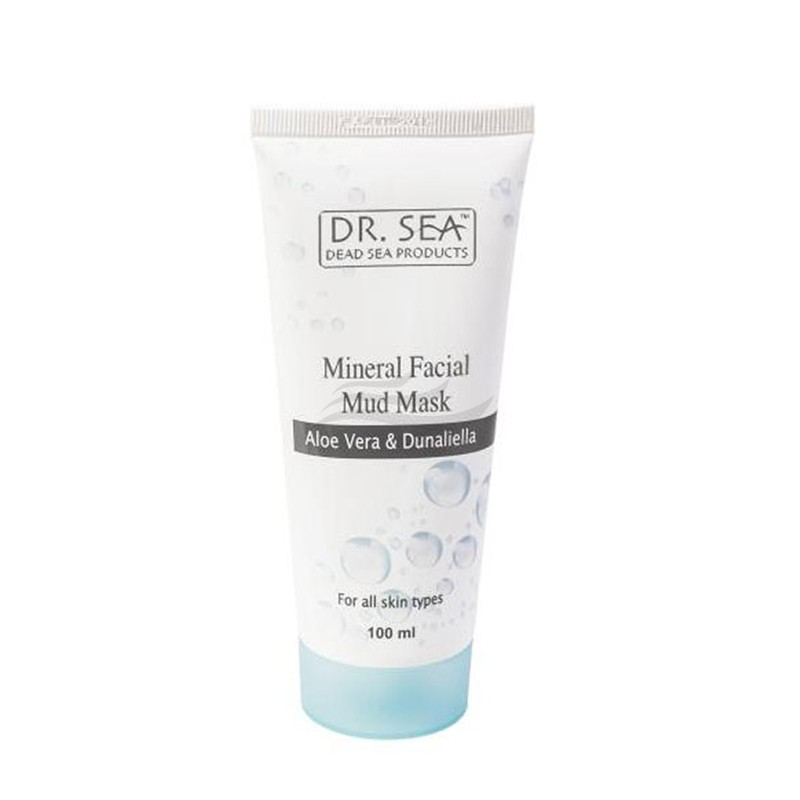 Mineral Facial Mud Mask with Aloe Vera & Dunaliella-1